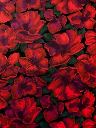 John Kaldor Floral Print Fabric, Red/Green