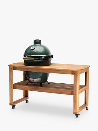Big Green Egg Large Egg BBQ & Acacia Wood Table Bundle with ConvEGGtor