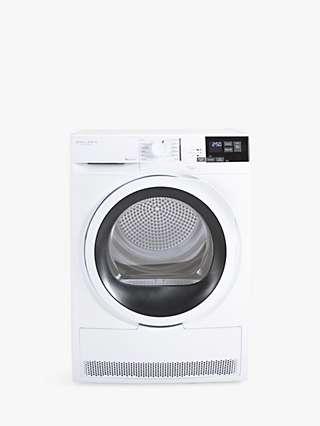 John Lewis & Partners JLTDH15 Freestanding Heat Pump Tumble Dryer, 8kg Load, White