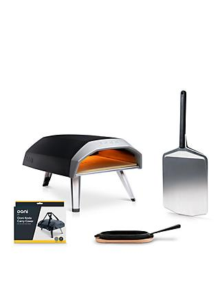 Ooni Koda 12 Gas Fuel Portable Pizza Oven, Cover, Grizzler Pan & Pizza Peel