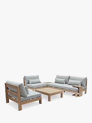 KETTLER Beach 4-Seat Garden Low Lounging Table & Chairs Set, FSC-Certified (Acacia Wood), Natural