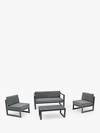 KETTLER Versa 4-Seat Garden Lounging Table & Chairs Set, Grey