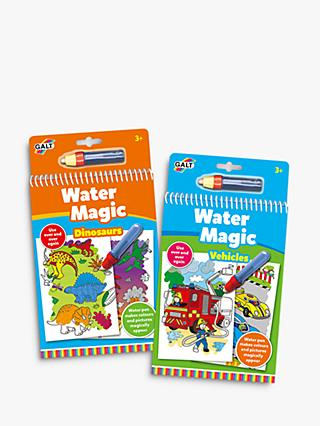Galt Water Magic Vehicles & Dinosaur Children's Colouring Books Bundle