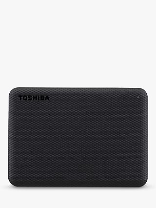 Toshiba Canvio Advance, Portable Hard Drive, 2TB, Black