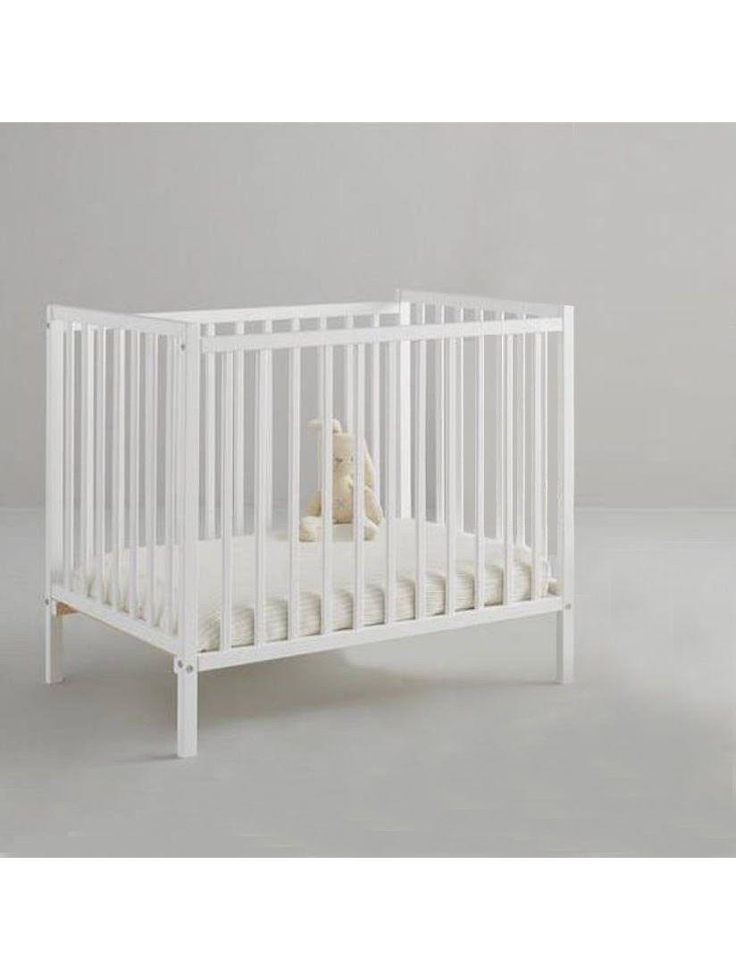 Little Acorns Piccolo Space Saver Cot, White