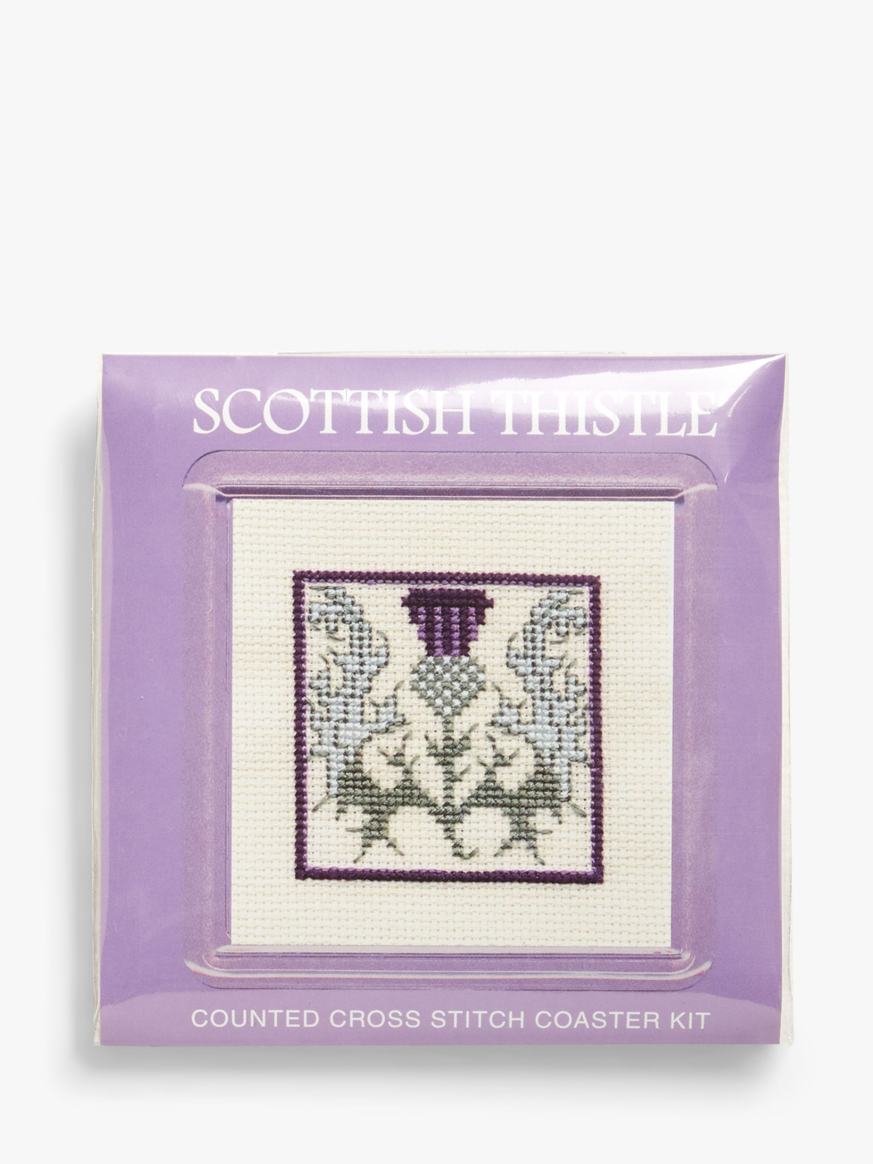 Textile Heritage Thistles Coaster Embroidery Kit