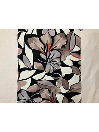 Litmans Abstract Lily Print Fabric, Grey