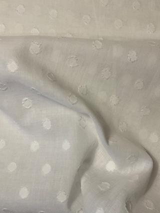 Litmans Spot Textured Print Fabric, White