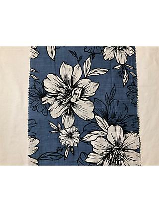 Litmans Flowers Print Fabric, Blue
