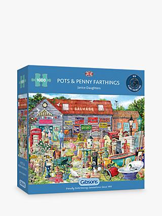 Gibsons Pots & Penny Farthings Jigsaw Puzzle, 1000 Pieces