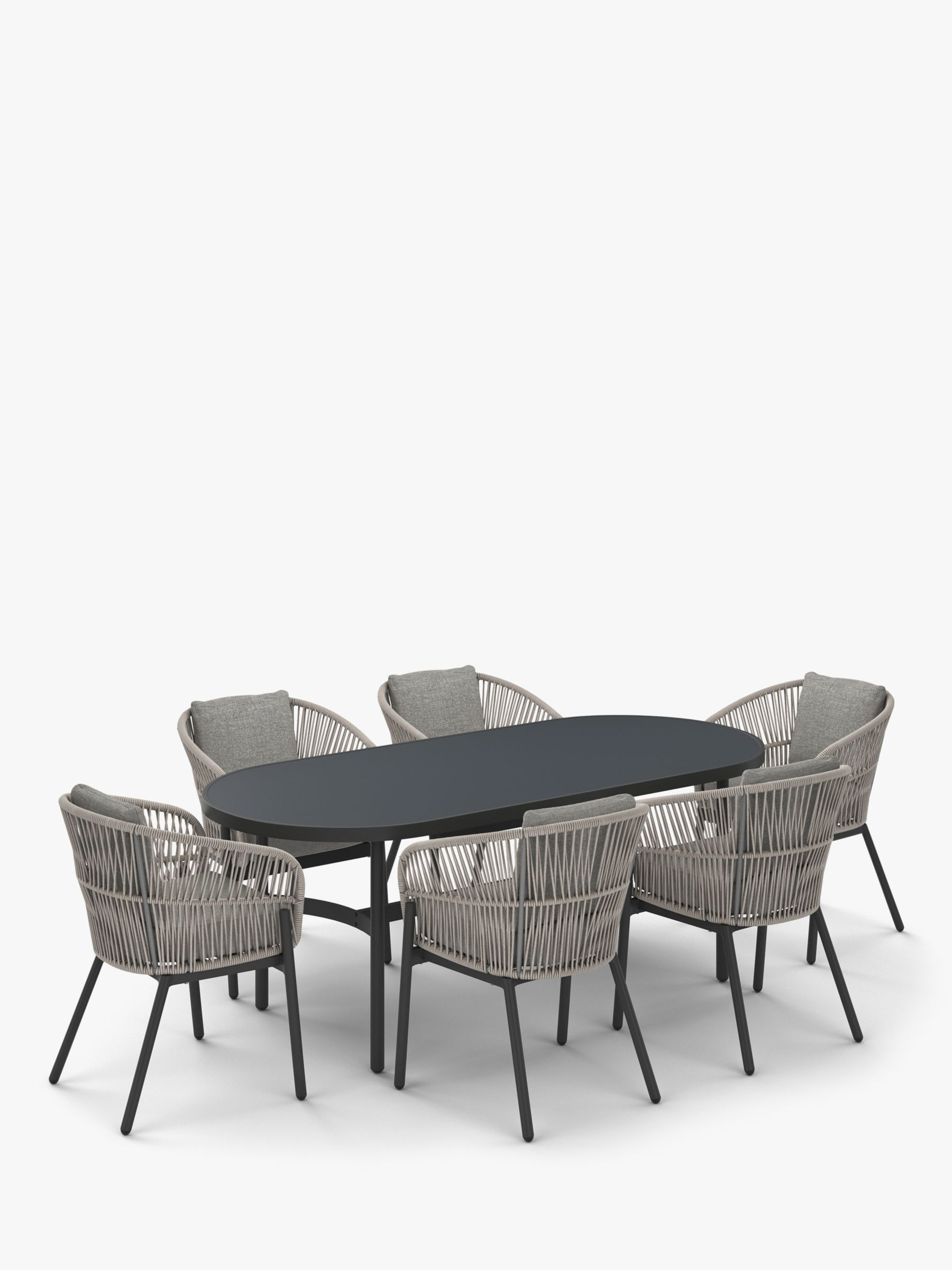 John Lewis & Partners Basket 9 Seater Oval Garden Dining Table ...