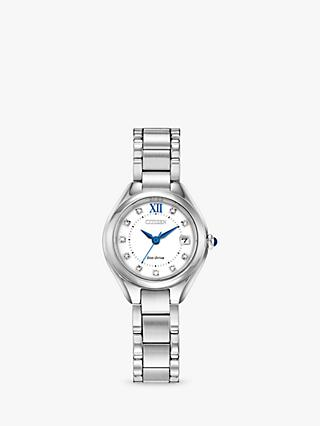 Citizen Women's Silhouette Eco-Drive Austrian Crystal Date Bracelet Strap Watch