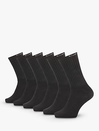Calvin Klein Ribbed Socks, One Size, Pack of 6