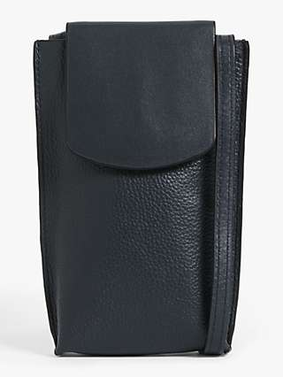 John Lewis & Partners Leather Phone Pouch Cross Body Bag