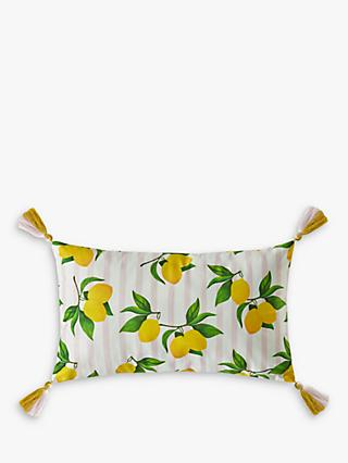 Skinnydip Summer Lemon Cushion, Yellow / Multi