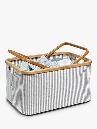 Prym Stripe Canvas Craft Storage Basket