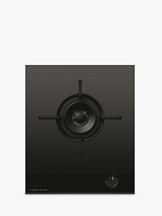 Fisher & Paykel Series 9 Minimal CG451DNGGB4 45cm Gas Hob, Black Glass