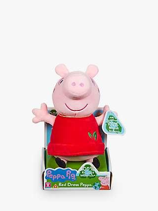 Peppa Pig Red Dress Peppa Soft Toy