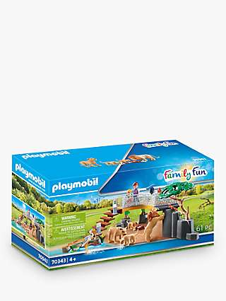 Playmobil Family Fun 70343 Outdoor Lion Enclosure