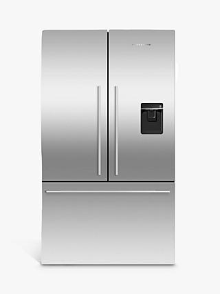 Fisher & Paykel Series 7 RF540ADUB5 Freestanding 70/30 French Fridge Freezer, Stainless Steel