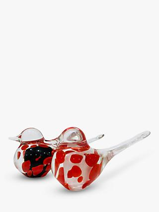 Svaja Basil Bird Ornament, Set of 2, Spotty