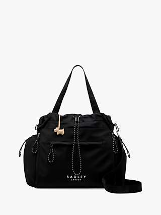 Radley Johanna Konta Large Drawstring Shoulder Bag, Black