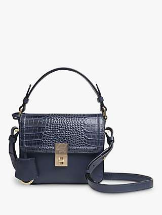 Radley Dorset Street Mini Croc Print Leather Cross Body Bag