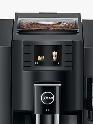 Buy JURA E8 Coffee Machine, Black Online at johnlewis.com