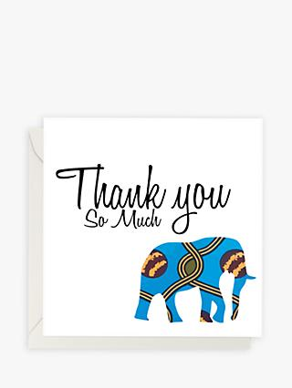 AfroTouch Design Elephant Fabric Panel Thank You Card