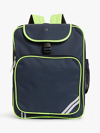 John Lewis & Partners Reflective Children's Backpack, Navy