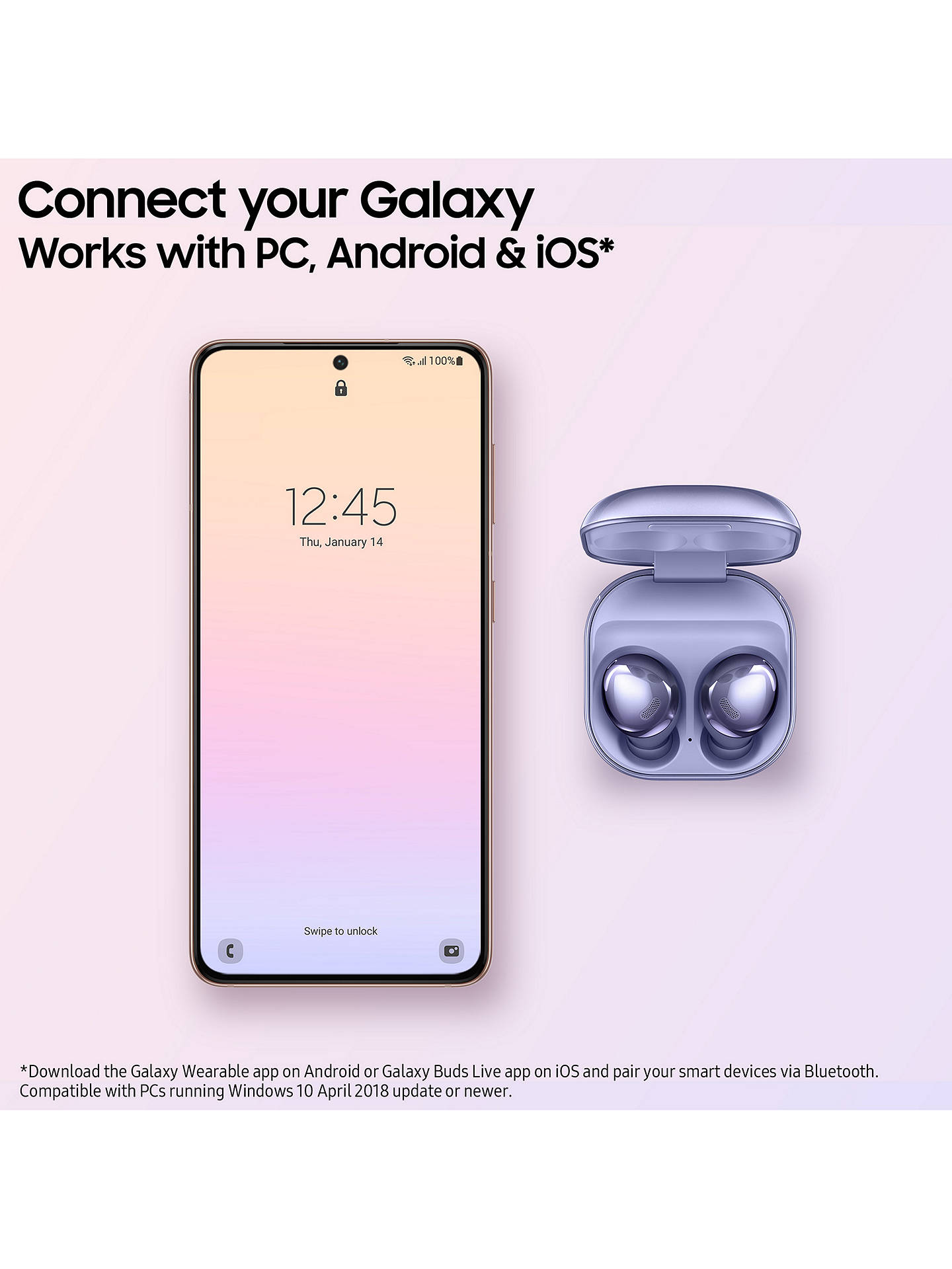 Buy Samsung Galaxy Buds Pro with Qi-Compatible Wireless Charging, Phantom Silver Online at johnlewis.com