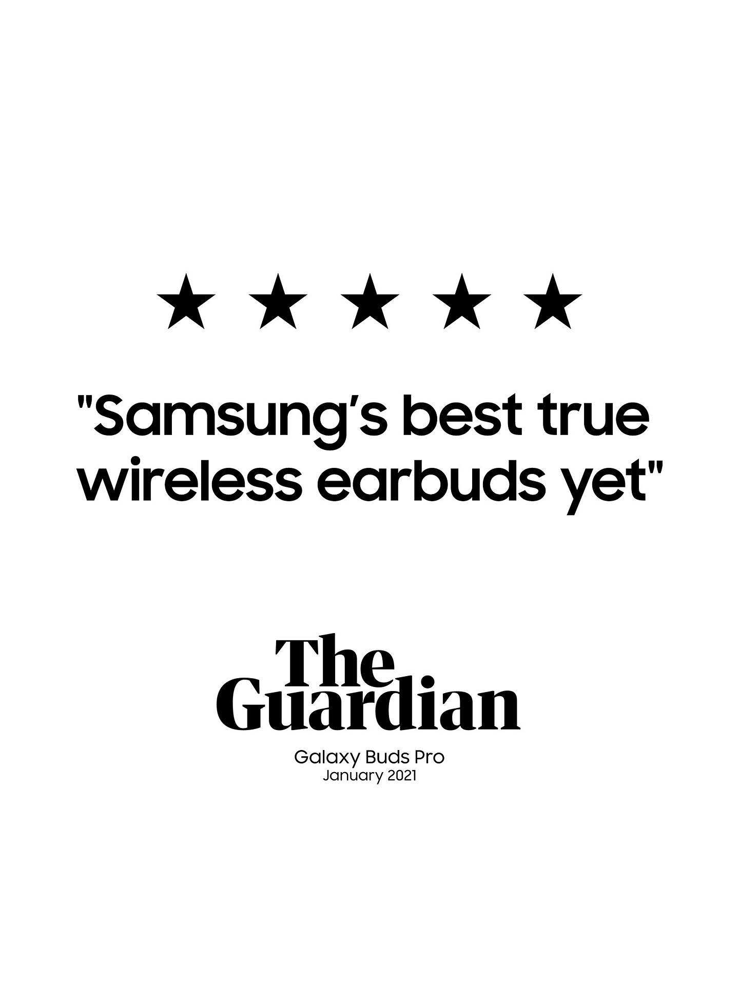 Buy Samsung Galaxy Buds Pro with Qi-Compatible Wireless Charging, Phantom Black Online at johnlewis.com