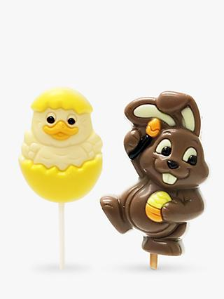 Natalie Chocolate Duck Lollies, 2x 35g  and Bunny Lolly, 35g