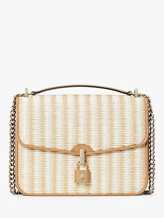 kate spade new york Locket Straw Shoulder Bag, Multi