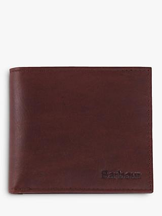 Barbour Waxed Cotton Leather Bifold Wallet, Brown