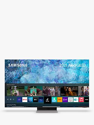 Samsung QE65QN900A (2021) Neo QLED HDR 3000 8K Ultra HD Smart TV, 65 inch with TVPlus/Freesat HD, Black