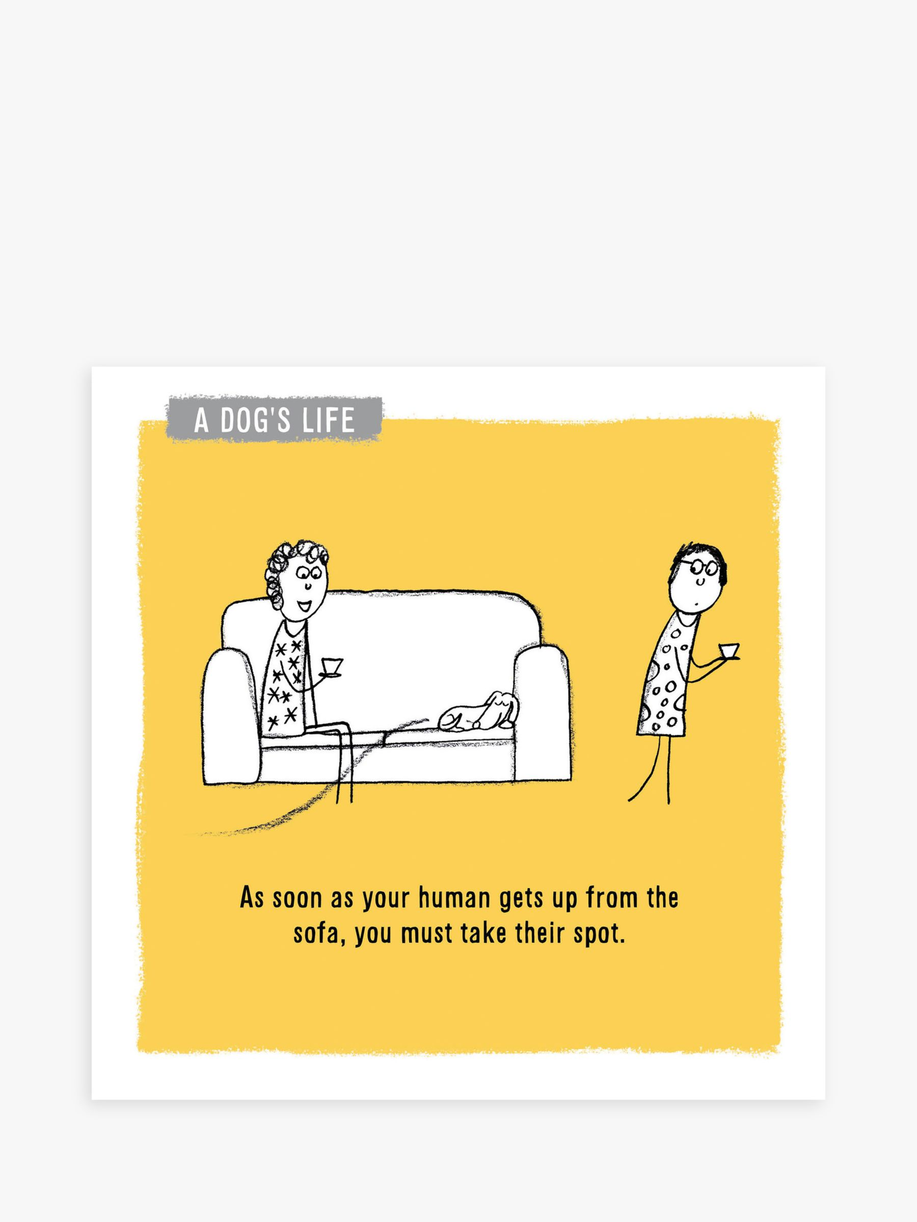 Woodmansterne Dog Space Sofa Blank Greeting Card