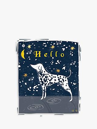 The Proper Mail Company Dalmatian Moon Blank Greeting Card