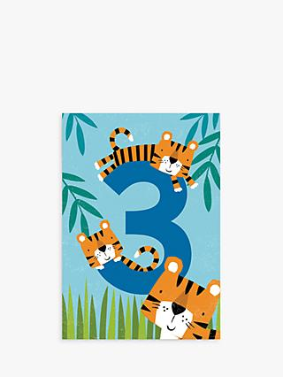 Cardmix Tiger Tails 3rd Birthday Card