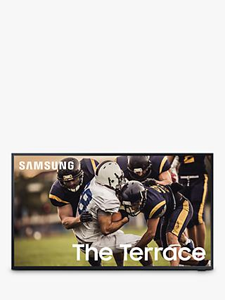 Samsung The Terrace (2020) QLED HDR 2000 4K Ultra HD Smart Outdoor TV, 65 inch with TVPlus, Black