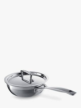 Le Creuset 3-Ply Stainless Steel Non-Stick Chef's Pan, 20cm