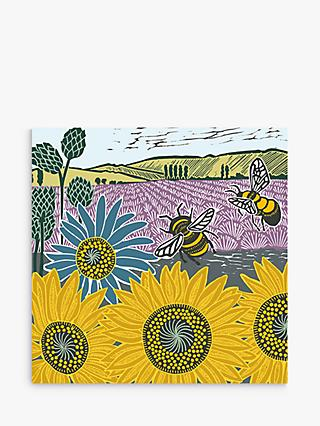 Art File Sunflowers & Bees Blank Greeting Card