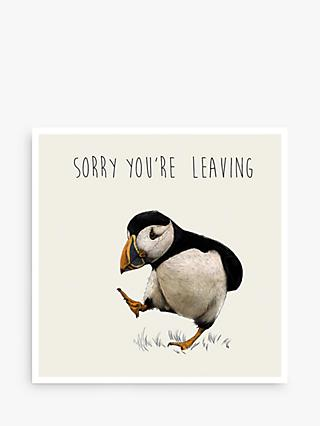 Art File Puffin Sorry You're Leaving Card