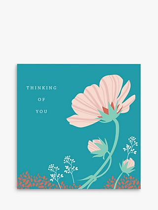 Laura Darrington Design Flowers Thinking of You Sympathy Card