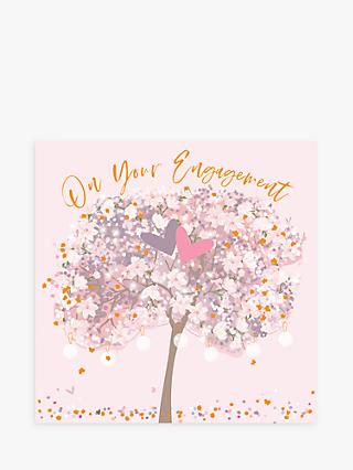 Belly Button Designs Heart Tree Engagement Card