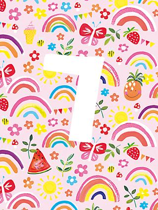 Paper Salad Fruit 7th Birthday Card