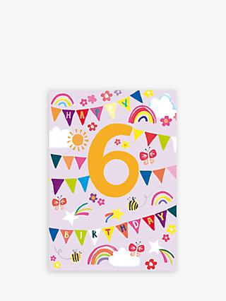Paper Salad 6th Birthday Card