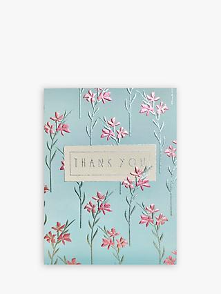Wendy Jones Blackett Lillies Thank You Card