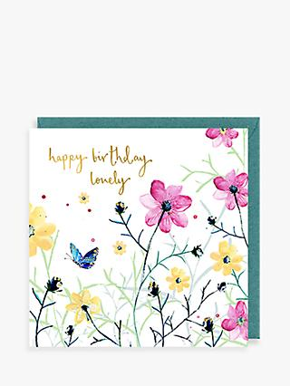 Louise Mulgrew Designs Lovely Flowers Birthday Card