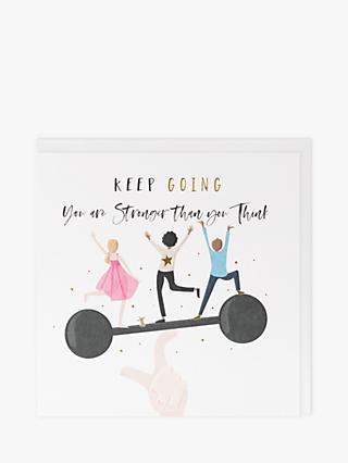 Belly Button Designs Keep Going Blank Greeting Card